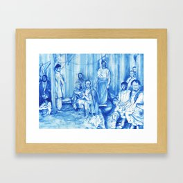 The jester and other Peasants Framed Art Print
