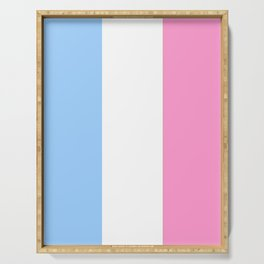 Parody of the french flag 2 -France,Paris, pink, Marseille, lyon, Bordeaux,love, girly,fun,idyll,Nic Serving Tray