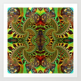 Psychedelic Fractal Geometry - different perspective Art Print