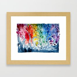 Love is all around us. Framed Art Print