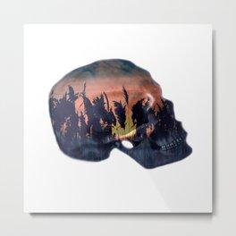 reed skull Metal Print