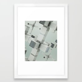 Magnetized Structures Framed Art Print