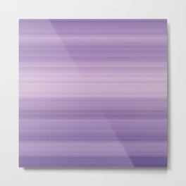 Pastel Ultra Violet Gradient Stripes Trendy Color of the year 2018 Metal Print