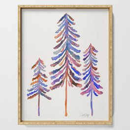 Pine Trees – 90s Color Palette Serving Tray