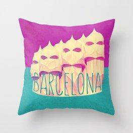 Barcelona Gaudi Paradise Throw Pillow