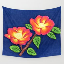 Sunset Roses Wall Tapestry