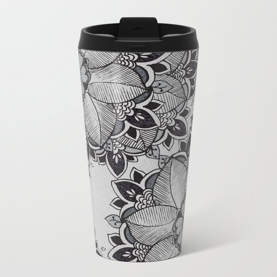 Gray  Metal Travel Mug