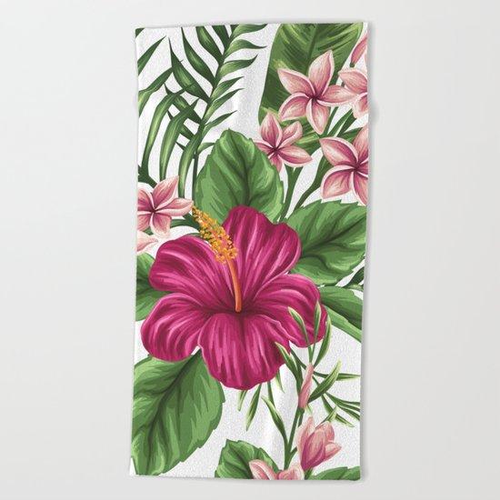 FLORAL PATTERN 9 Beach Towel