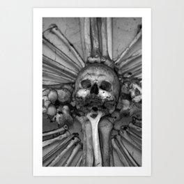 Kostnice Beinhaus Interior Art Print