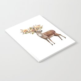 Boho Chic Deer With Flower Crown Notebook