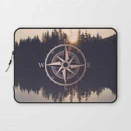 Rose Gold Compass Forest Laptop Sleeve