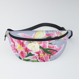 Lillies oil painting on canvas card Fanny Pack