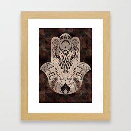 Blush Hamsa Framed Art Print
