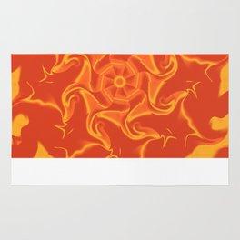 Red Orange and Yellow Kaleidoscope 3 Rug