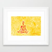 nirvana Framed Art Prints featuring NIRVANA by Cristian Armen