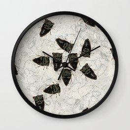 Cicada Pattern Wall Clock