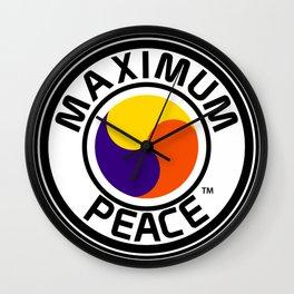 Maximum Peace Wall Clock