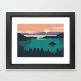 Emerald Bay Lake Tahoe Framed Art Print