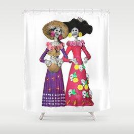Las Calaveras Amigas Shower Curtain