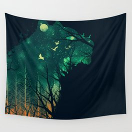 Space Tiger Wall Tapestry