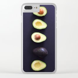 Avocados in line Clear iPhone Case