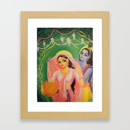 The Divine Couple - Radha and Krishna Framed Art Print