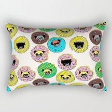 Pug Donuts Rectangular Pillow