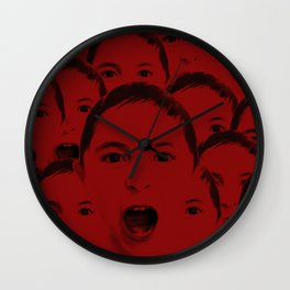 Shout, shout, let it all red Wall Clock
