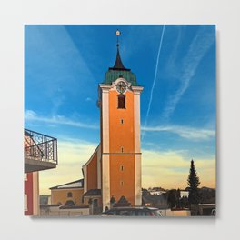 The village church of Neufelden II | architectural photography Metal Print