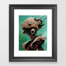 Twin #2 Robot Framed Art Print