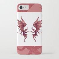 diablo iPhone & iPod Cases featuring Double Diablo by Little Bunny Sunshine