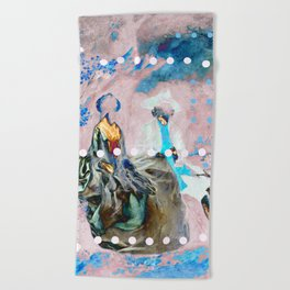 The Lovers In Pink Beach Towel
