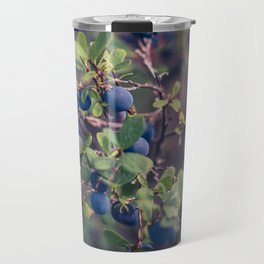 Alaskan Blueberries on the bush, photograph Travel Mug