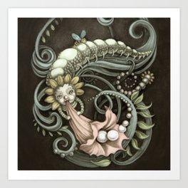 Pearly Dew Drops Art Print