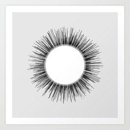Circle sketch03 Art Print