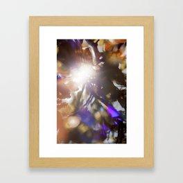 Glitchy Tree Framed Art Print