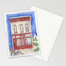 A City Hub Christmas—Custom Painting Stationery Cards