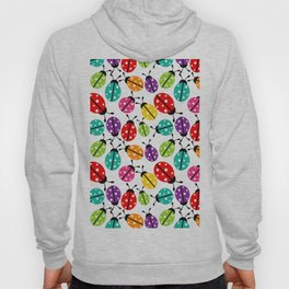 Lots of Crayon Colored Ladybugs Hoody