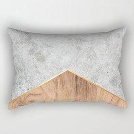 Concrete Arrow Wood #345 Rectangular Pillow