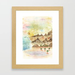 Landscape Nature Watercolor Art Framed Art Print