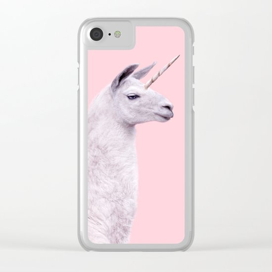 UNICORN LLAMA Clear iPhone Case