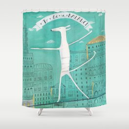 To Be In Balance Shower Curtain