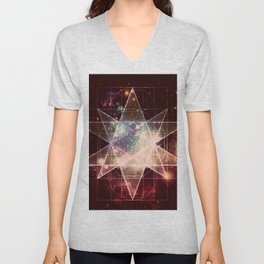 Galaxy Sacred Geometry : Stellated Icoshadron Warmth Unisex V-Neck