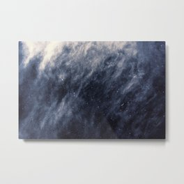 Blue Clouds, Blue Moon Metal Print