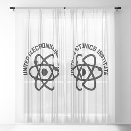 United Electronics Institute Sheer Curtain