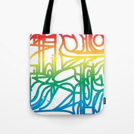 Rainbow Stained Glass Pattern Tote Bag