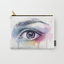 Colorful Eye Dripping Rainbow Carry-All Pouch