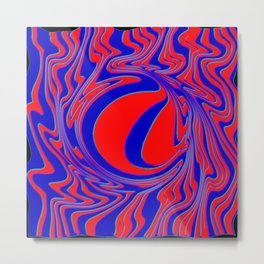 thrust, red and blue Metal Print