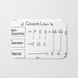 Grimm's Law Bath Mat