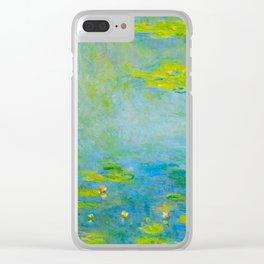Claude Monet Impressionist Landscape Oil Painting Water Lilies Clear iPhone Case